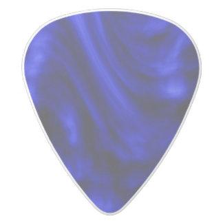 Blue swirl pick white delrin guitar pick