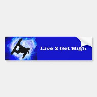 Blue Swirl Snowstorm Bumper Sticker