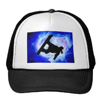 Blue Swirl Snowstorm Hat