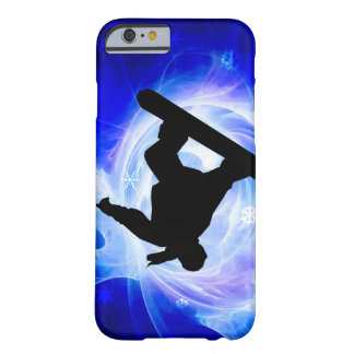 Blue Swirl Snowstorm Snowboard Barely There iPhone 6 Case