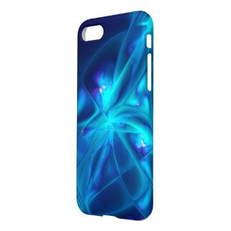 Blue Swirl Starburst Pattern Fractal iPhone 7 Case
