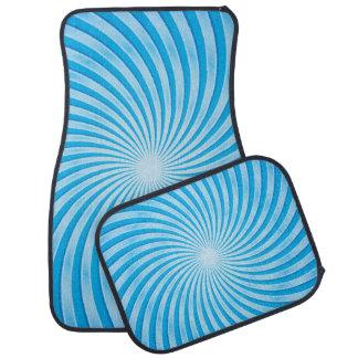 Blue Swirl Floor Mat