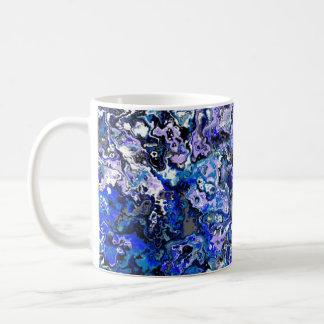 Blue Swirling Floral Classic Designer Mug