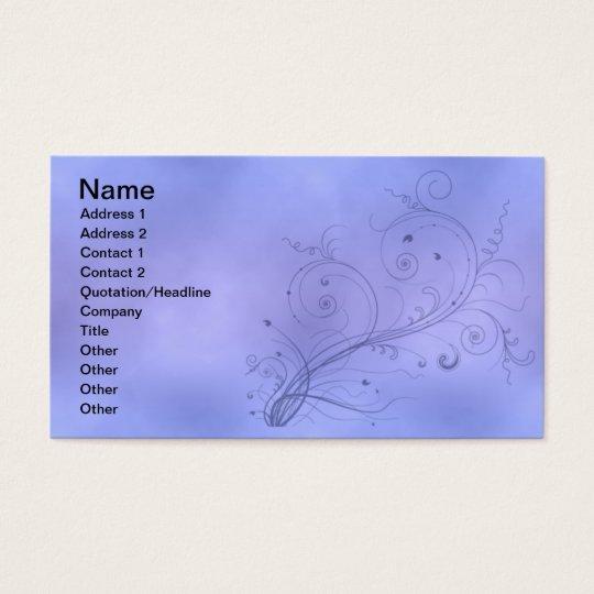 Blue Swirls Business Card