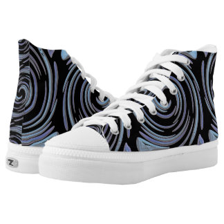 Blue Swirls High Tops