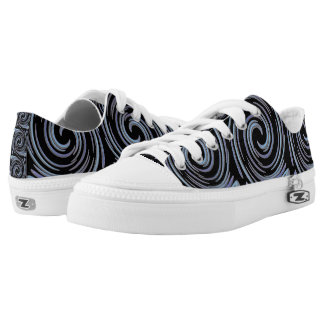 Blue Swirls Low Tops