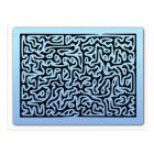 Blue Swirls Maze Postcard