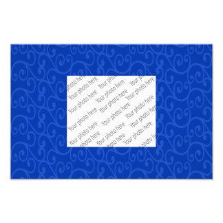 Blue swirls photo