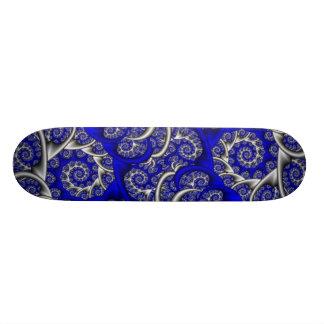Blue Swirls Skate Deck