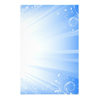 blue swirls stationery design