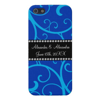 Blue swirls wedding favors case for iPhone 5