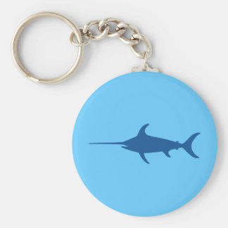 Blue Swordfish Key Ring