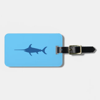 Blue Swordfish Luggage Tag