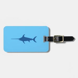 Blue Swordfish Travel Bag Tags