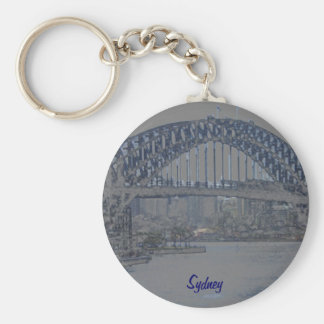 Blue Sydney Harbour Bridge Key Ring