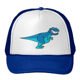 Blue T-rex Cap