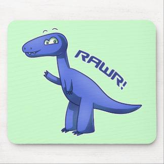 Blue T-Rex Mouse Pad