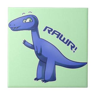 Blue T-Rex Tile