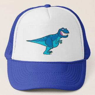 Blue T-rex Trucker Hat