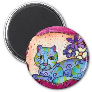 Blue Tabby Cat Magnet