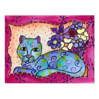 Blue Tabby Cat Postcards