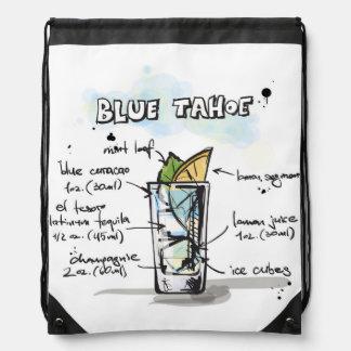 Blue Tahoe Drink Recipe Design Backpacks
