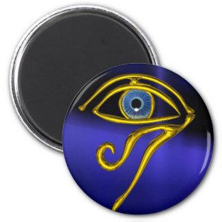 BLUE TALISMAN 6 CM ROUND MAGNET