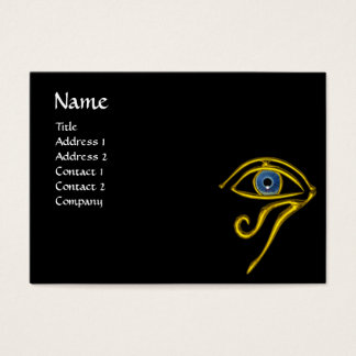 BLUE TALISMAN, black yellow Business Card