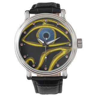 BLUE TALISMAN / EYE OF HORUS ,Black Wristwatches
