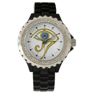 BLUE TALISMAN / EYE OF HORUS ,White Wrist Watches