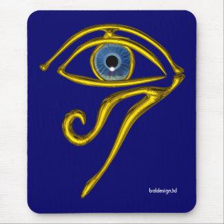 BLUE TALISMAN / GOLD HORUS EYE MOUSEPAD