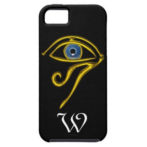 BLUE TALISMAN MONOGRAM ;black iPhone 5 Covers