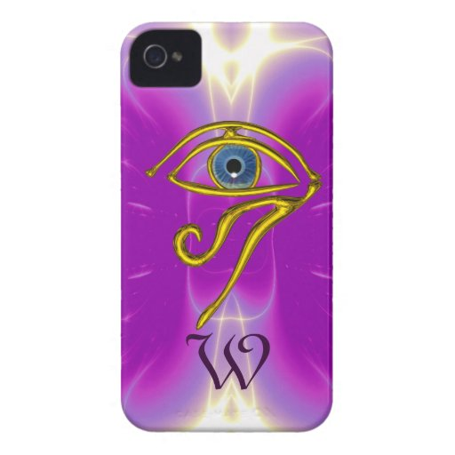 BLUE TALISMAN MONOGRAM  Pink Fuchsia Purple Case-Mate iPhone 4 Case