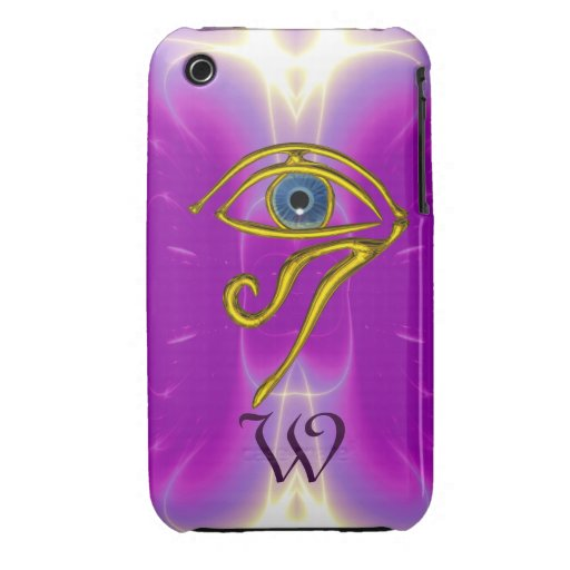 BLUE TALISMAN MONOGRAM  Pink Fuchsia Purple iPhone 3 Case-Mate Case
