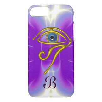 BLUE TALISMAN MONOGRAM  Pink Fuchsia Purple iPhone 8/7 Case