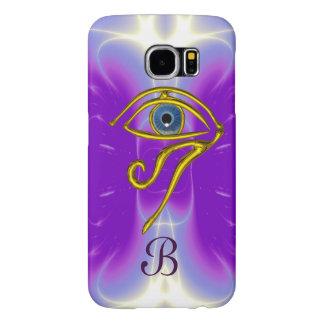 BLUE TALISMAN MONOGRAM  Pink Fuchsia Purple Samsung Galaxy S6 Cases