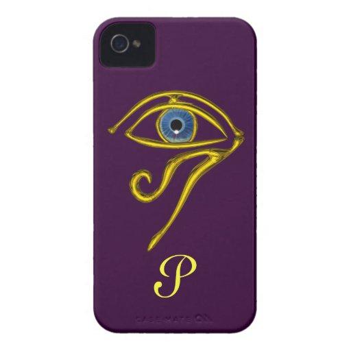 BLUE TALISMAN MONOGRAM Purple iPhone 4 Case-Mate Case