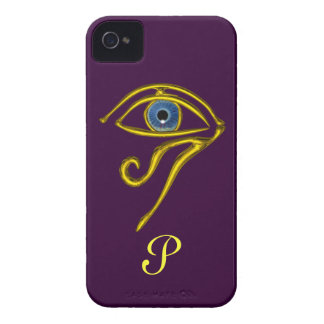 BLUE TALISMAN MONOGRAM Purple Case-Mate iPhone 4 Case