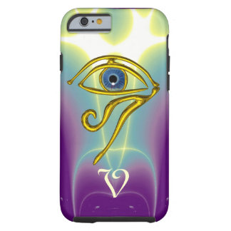 BLUE TALISMAN MONOGRAM  Teal, Purple White Tough iPhone 6 Case