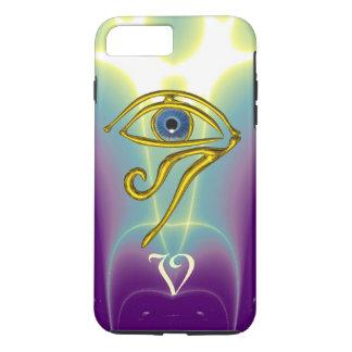 BLUE TALISMAN MONOGRAM  Teal, Purple White iPhone 7 Plus Case