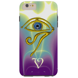 BLUE TALISMAN MONOGRAM  Teal, Purple White Tough iPhone 6 Plus Case
