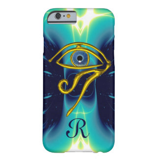 BLUE TALISMAN MONOGRAM  Teal, Turquoise White Barely There iPhone 6 Case