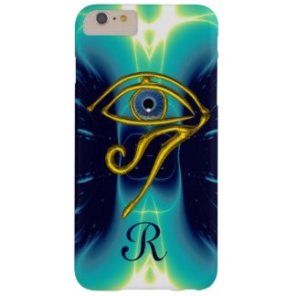 BLUE TALISMAN MONOGRAM  Teal, Turquoise White Barely There iPhone 6 Plus Case
