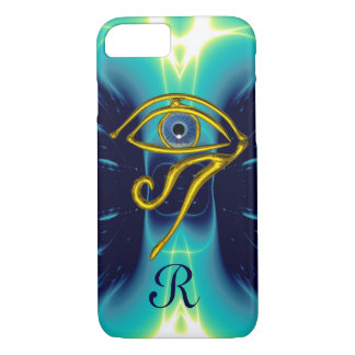 BLUE TALISMAN MONOGRAM  Teal, Turquoise White iPhone 7 Case