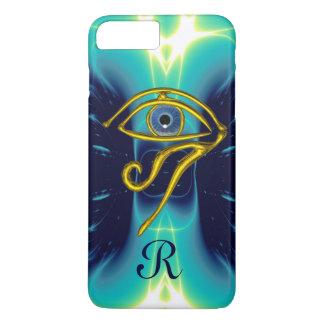 BLUE TALISMAN MONOGRAM  Teal, Turquoise White iPhone 7 Plus Case
