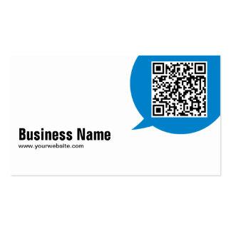Blue Talk Bubble Programmer Business Card