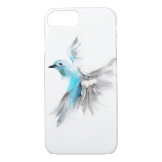 'Blue Tanager' Watercolour iPhone 7 Case
