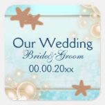 Blue tangerine wedding engagement favours