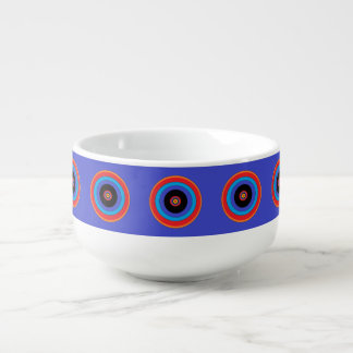 blue target soup mug