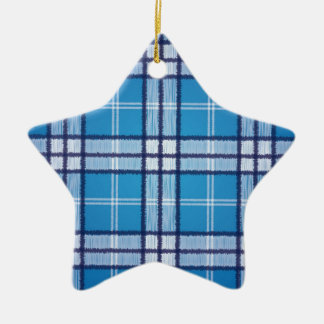 Blue Tartan Christmas Ornament